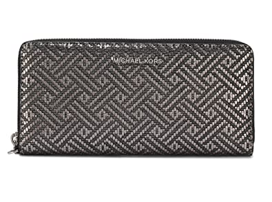 a9d127f890a96c MICHAEL Michael Kors Jet Set Travel Continental Wallet, Silver at Amazon  Women's Clothing store: