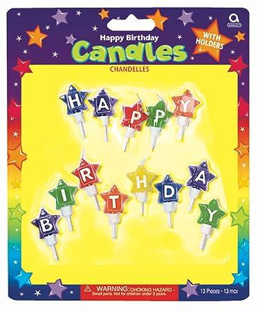 amscan Velas de cumpleaños en Forma de balones de fútbol ...