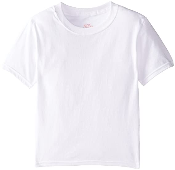 9486b76101 Hanes Little Boys' 3-Pack Crewneck T-Shirt - White - Small/