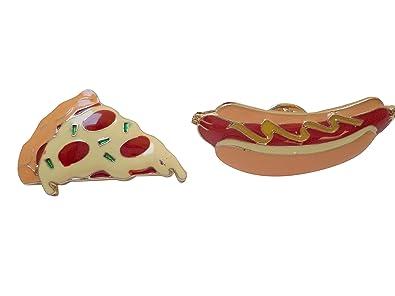 Amazon com: Junk Food Pin Set: Pizza and Hot Dog Enamel