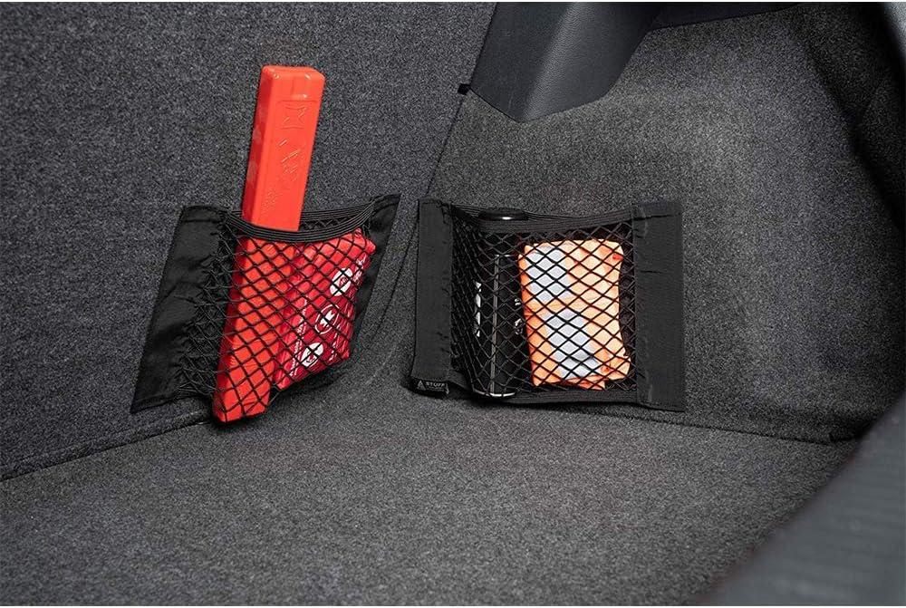 LKWs und SUVs Gro/ße Kapazit/ät Kofferraum Netztasche Elastisches Autonetz N 2 St/ück Kofferraum netztasche Klett Transportern f/ür Die Hintere Laderaumlagerung in Autos 40x25cm