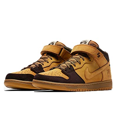 new style 8467d 223ee Nike SB Dunk Mid Pro Chaussures de Fitness Homme, Multicolore (Cappuccino  Bronze 200