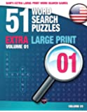 Sam's Extra Large Print Word Search Games, 51 Word Search Puzzles, Volume 1: Brain-stimulating puzzle activities for…