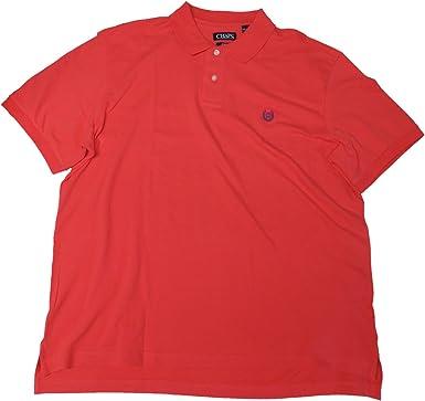 Chaps Men's Polo Shirt, Size XXL, Cactus/Coral at Amazon Men's ...