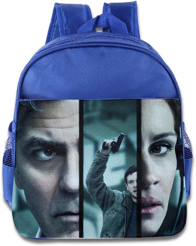 XJBD Custom Funny Money Monster Children School Bagpack Bag for 1-6 Years Old RoyalBlue