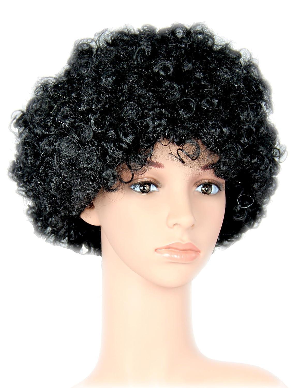 Negra Afro peluca de pelo cabeza de los a/ños setenta para Fiesta Carnaval Negro foxxeo 35113/
