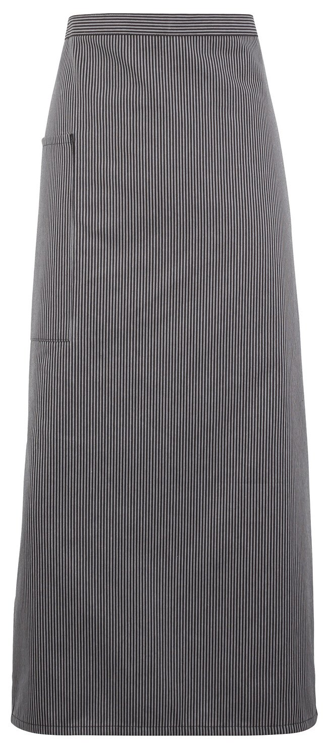Premier Striped Gastronomy Waist Apron - 2 Designs Ava - Black/Grey Fine Stripe