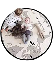 Mother & Kids Romantic Newborn Kids Floor Mats Baby Crawling Blanket Cotton Chilren Padded Mat Round Carpet Play Rug Kids Room Decoration Baby Gyms & Playmats
