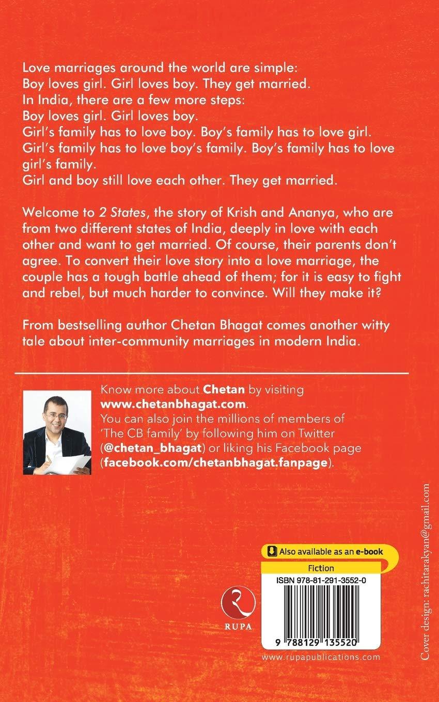 2 States The Story Of My Marriage Bhagat Chetan 9788129135520 Amazon Com Books