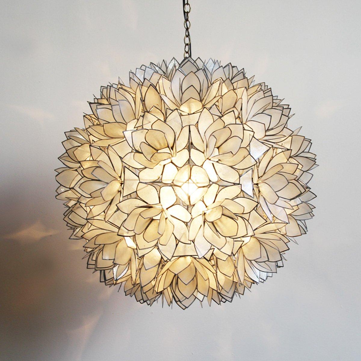 Lotus Flower Capiz Shell Lantern 22 by Mix Furniture (Image #1)