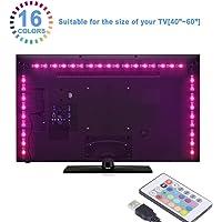 Sunnest Led TV Tira Led RGB 5050 2Metros Led Para TV  Impermeable Energía USB Para Computadora Monitor TV Pantalla LCD