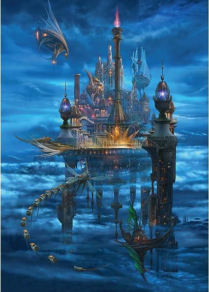 Family Entertainment Educational Puzzle 1000 Piece Jigsaw Puzzle for Kids Adult Magic Elf Painting Landscape Puzzles