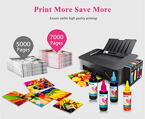 Aomya Refill Ink Kit 100ml for HP 61 60 62 63 950 951 564 920 901 Inkjet Printer Cartridges for Refillable Ink Cartridges or CIS CISS System 4 Color ...