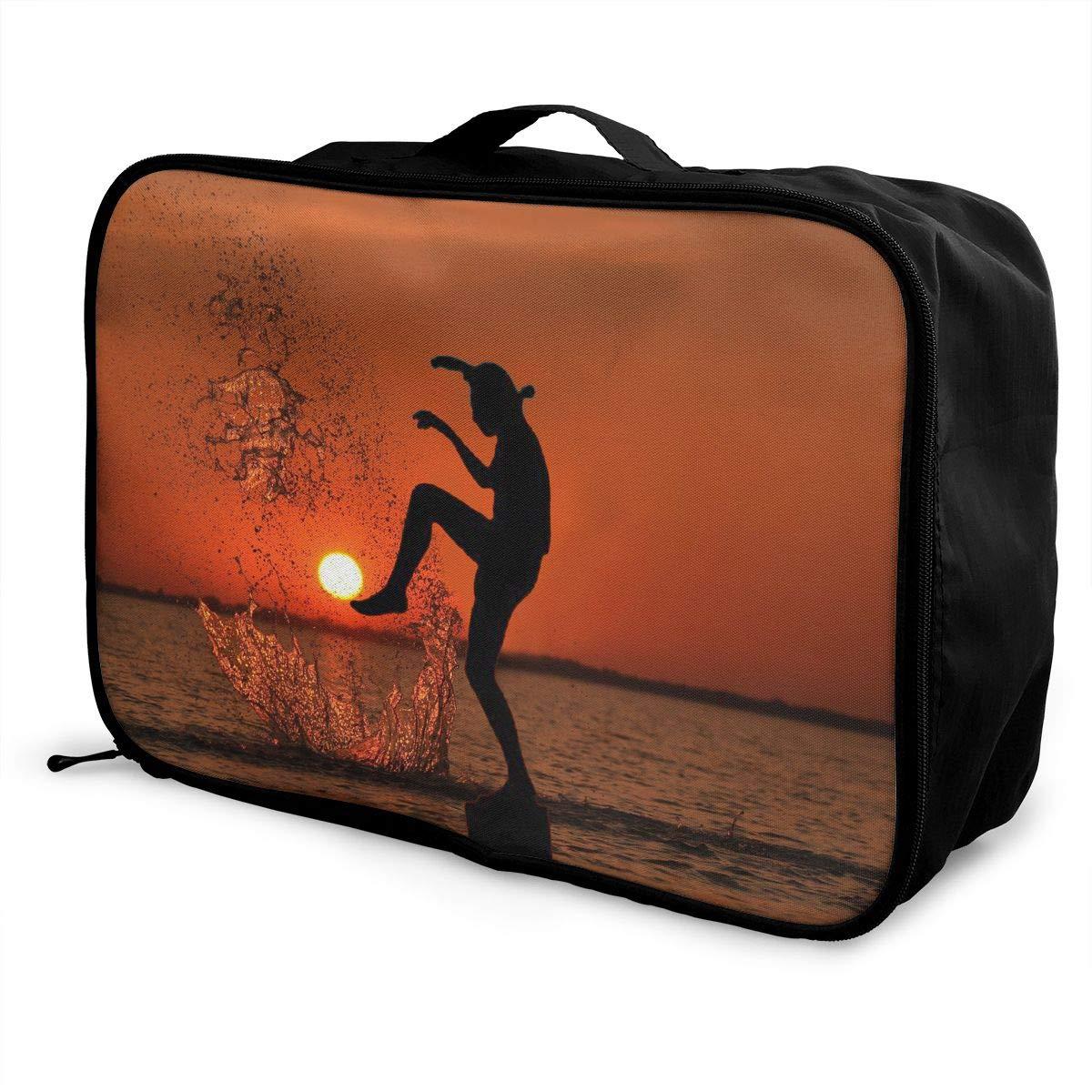 Travel Luggage Duffle Bag Lightweight Portable Handbag Large Capacity Waterproof Foldable Storage Tote
