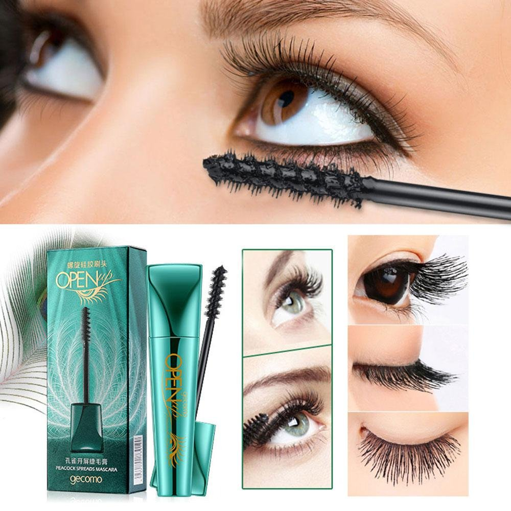 Amazon.com : Extend Mascara, Aolvo Waterproof 3D Fiber Mascara Liquid Lash Lengthening Peacock Mascara Thickening Eyelash Extensions Smudge Proof Long ...