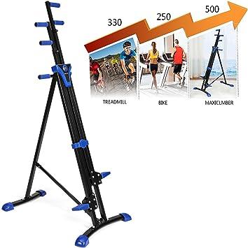 etuoji 2 en 1 Máquina de alpinista, entrenamiento total Cardio vertical plegable para subir por escaleras máquina portátil de fitness paso alpinista con temporizador digital de entrenamiento (US stock): Amazon.es: Deportes y