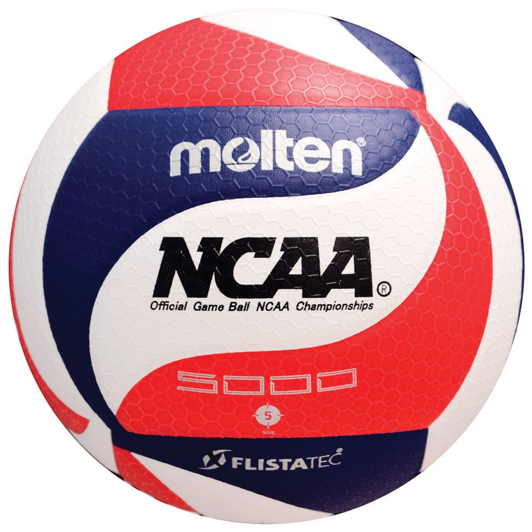 Molten FLISTATEC Volleyball - Official NCAA Men's Volleyball, Red/White/Blue by Molten