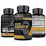 Beard Hair Growth Support Supplement-Achieve a Longer, Thicker, Fuller Beard. Grow a Manlier, Healthier Beard & Mustache…