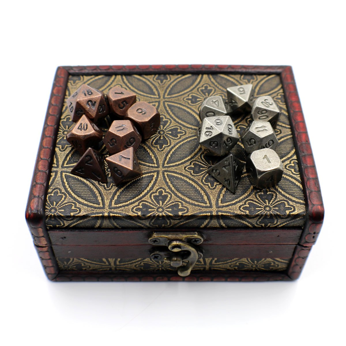 Twin Role Playing Metal Dice Sets with Storage Chest for Tabletop Games by Dahan Dice (Image #4)