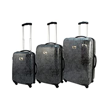 72d1e974c051 Chariot 3 Piece Hardside Lightweight Spinner Upright Luggage Set