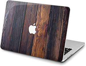 Lex Altern Hard Case for Apple MacBook Pro 15 Air 13 inch Mac Retina 12 11 2020 2019 2018 2017 2016 Simple Laptop Print Oak Touch Bar Plastic Pattern Shell Wood Grain Planks Women Men Cover Luxury
