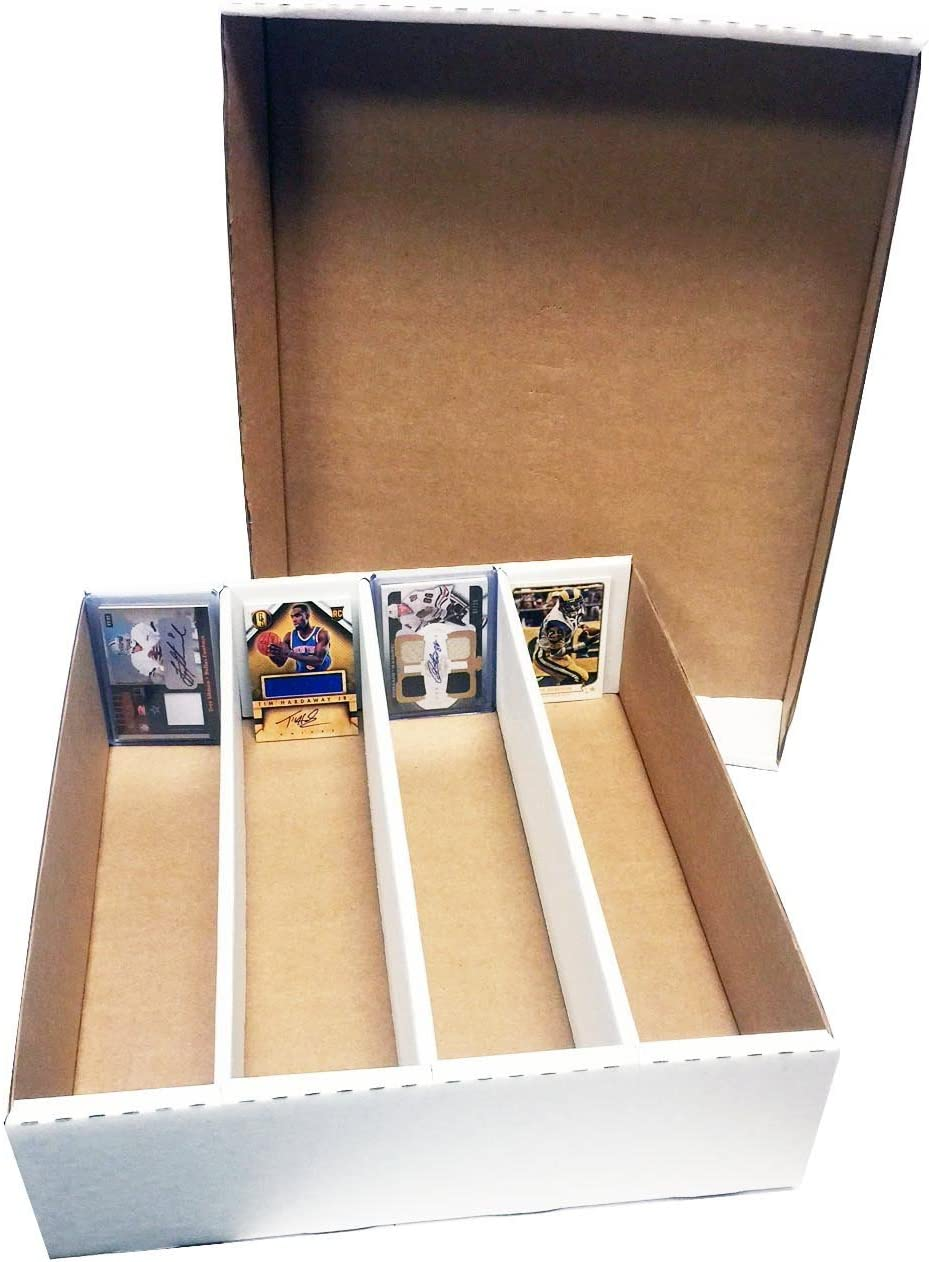 3) Monster 4-Row Storage Box Holds 3,200 trading cards by MAX PRO 3200ct HALF LID - For Baseball, Football, Hockey, Soccer Cards by Max Protection: Amazon.es: Deportes y aire libre