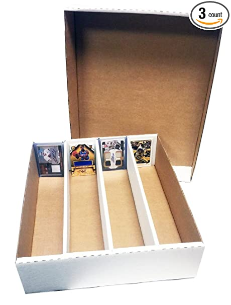 3 Monster 4 Row Storage Box Holds 3200 Trading Cards By Max Pro 3200ct Half Lid For Baseball Football Hockey Soccer Cards