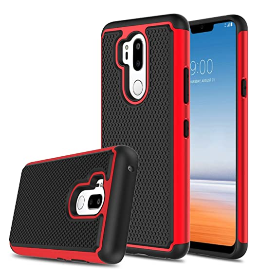 finest selection 72a44 185be LG G7 One Case, LG G7 Fit Case, LG G7 ThinQ Case, LG G7 Case, Elegant  Choise Hybrid Dual Layer Shock Absorbing Anti-Scratch Rugged Bumper Armor  ...