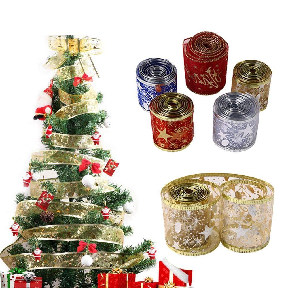 Christmas Printed Grosgrain Ribbon Christmas Deer//Tree Ribbon Decoration 2M