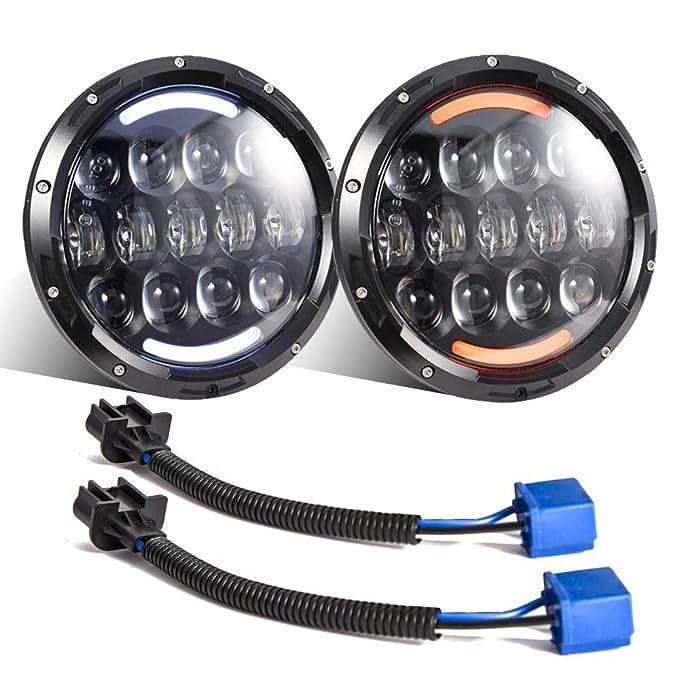 4 opinioni per Esyauto- 2 fari a LED Osram bianco/ambra 105 W OSRAM 17,8 cm rotondi per