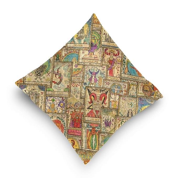 Amazon.com: My Daily Tarot Cards Vintage Square Throw Pillow ...