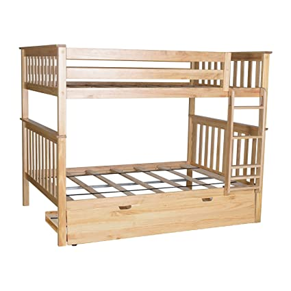 Amazon Com Max Lily Solid Wood Full Over Full Bunk Bed With