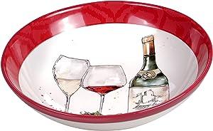 Certified International Napa 144 oz. Serving/Pasta Bowl, Multi Colored