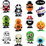 PTFNY 12 Pack Wind Up Toys for Halloween Assorted Novelty Jumping and Walking Clockwork Toys Halloween Party Favors for…