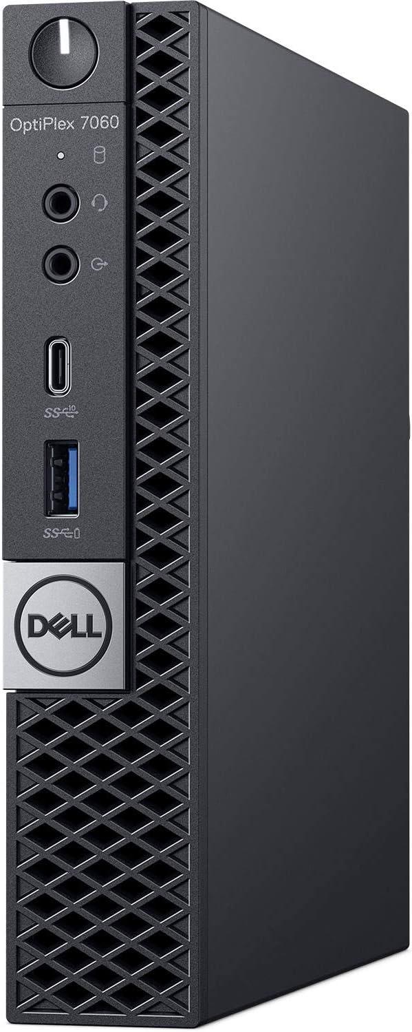 Dell Optiplex 7060 Micro Form Factor Desktop, Intel 6-Core i7 8700T 2.4Ghz, 8GB DDR4, 512GB NVMe M.2 SSD, USB Type C, Windows 10 Pro (Renewed)