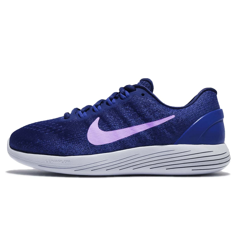 NIKE Women's Lunarglide 9 Running Shoe B01N3LBSGS 6 B(M) US|Deep Royal Blue/Purple Agate