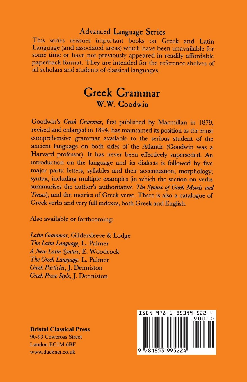Greek Grammar (Advanced Language S)