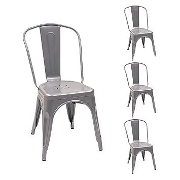 Homely Pack de 4 sillas Vintage ASUAN con Estructura ...