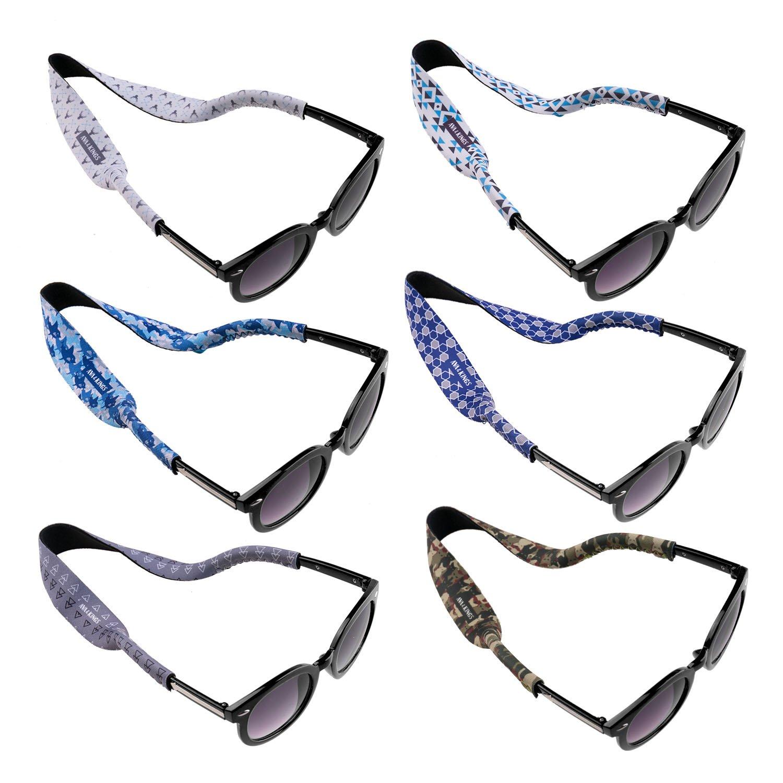 Ava & Kings 6pc Kids Neoprene Glasses Holder Neck Strap Sports Retainer - Boys