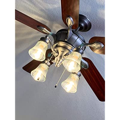 Buy Ceiling Fan Light Cover Clear Hammered Style Bell Glass Shade Lighting Replacement Glass Shade With Standard 2 1 8 Fitter Size Perfect Diy Glass Accessories Online In Kenya B08j7kdmw5