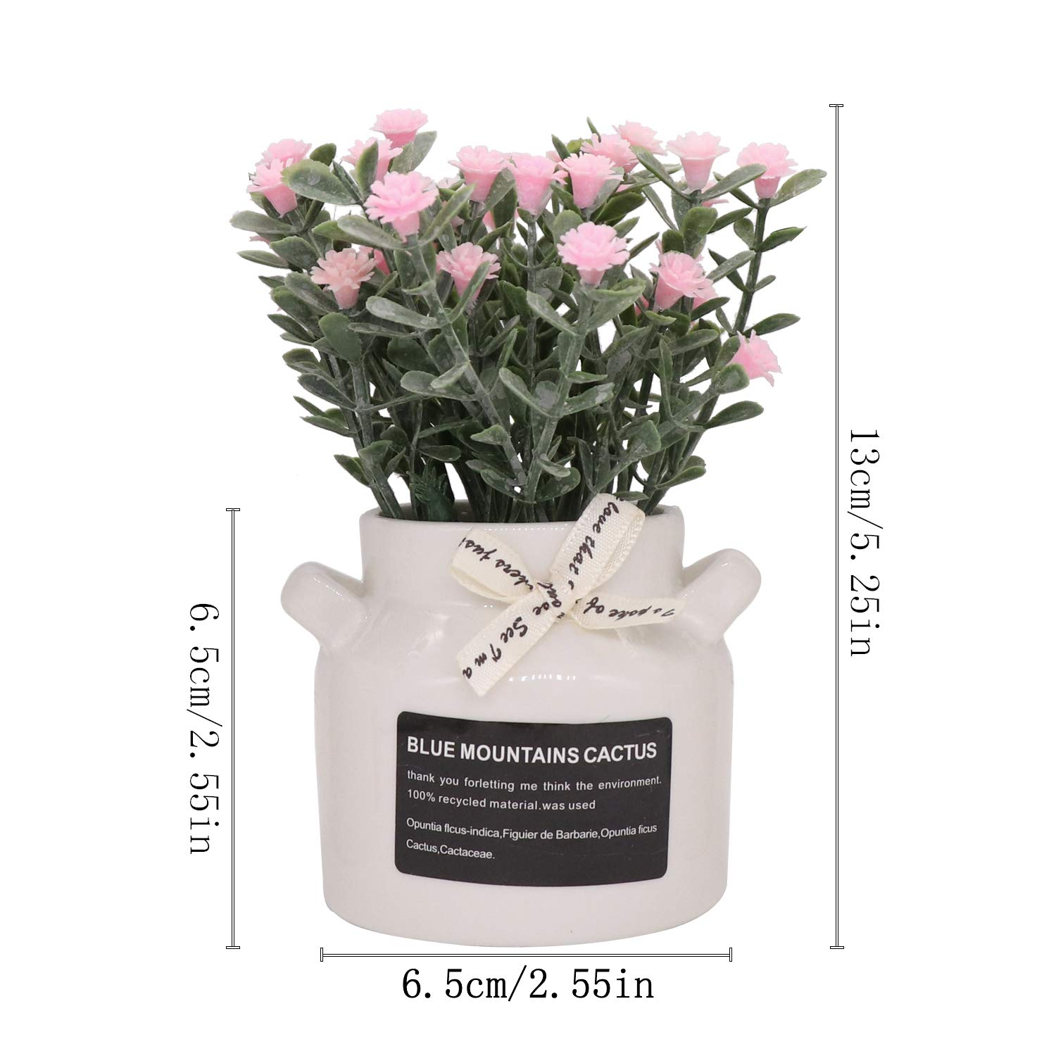 In Vase Small Collection For Bathroom Table House Balcony Office D/écor PANTINUE 3 Pcs Fake Aritificial Plant Flowers Baby Breath Potted