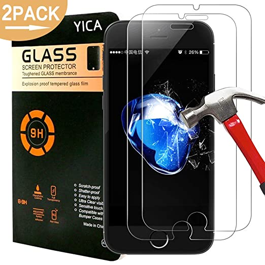 30 opinioni per iPhone 7 Pellicola Protettiva, Yica [2 Pack] Vetro Temperato di Protezione della