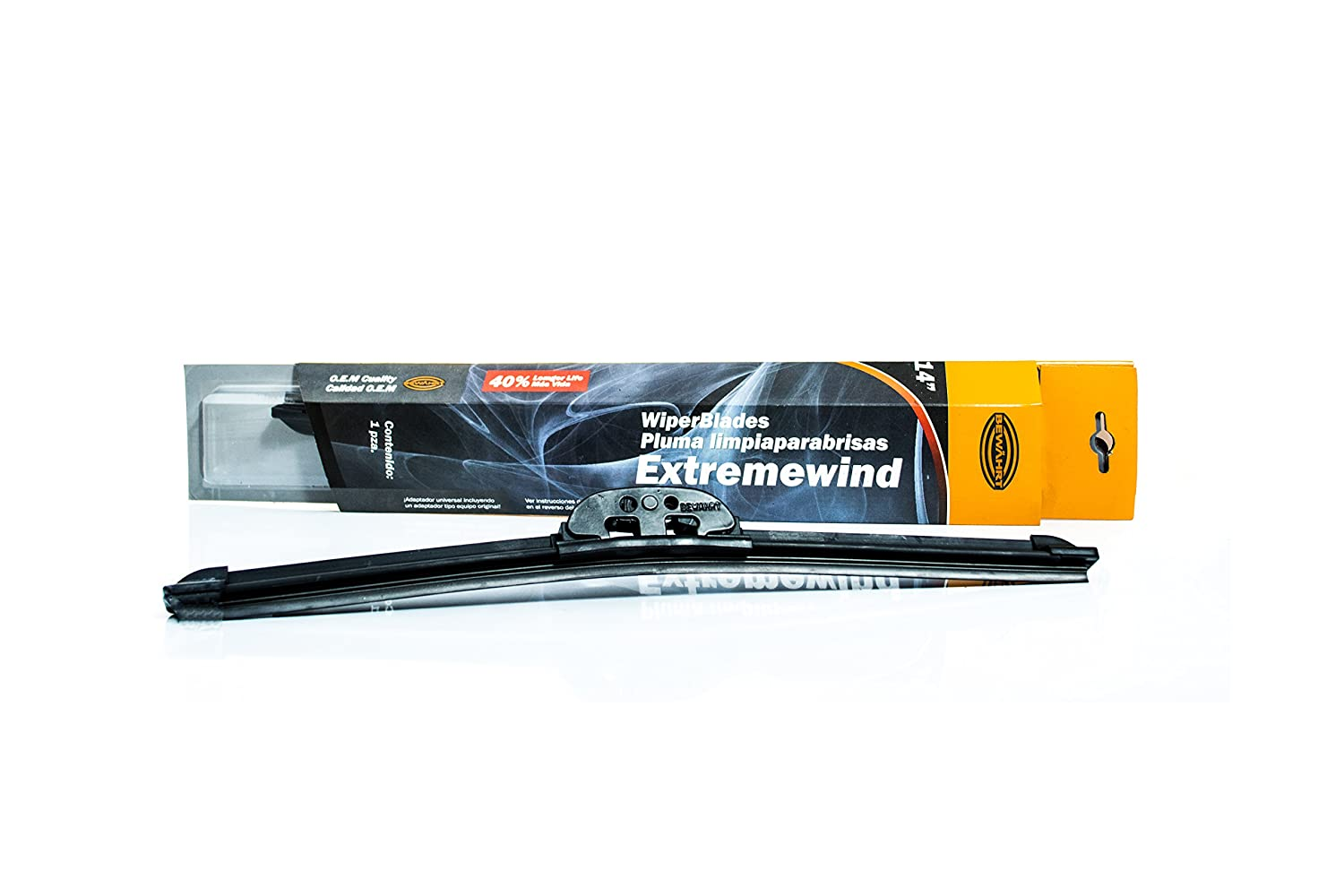 Extremewind Universal Wiper Blades - Graphite Coated Rubber - UV Coated - Metal connector for enhanced durability - Super Silent - New Style - German ...