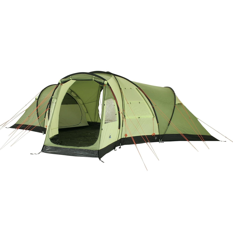 10T Camping-Zelt Highhills 6 Kuppelzelt mit Schlafkabine für 6 Personen Outdoor Familienzelt mit Wohnraum, eingenähter Bodenwanne, Vorraum, Dauerbelüftung, wasserdicht mit 5000mm Wassersäule