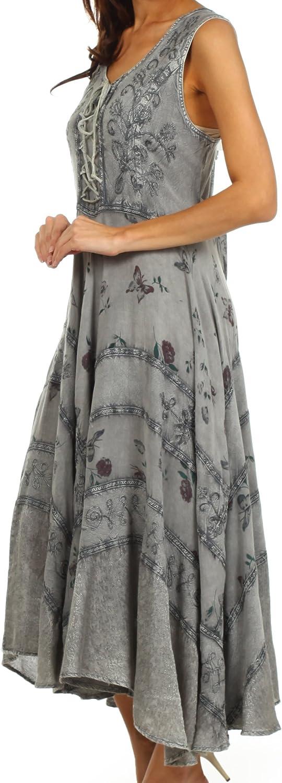 Sakkas Garden Goddess Corset Style Dress