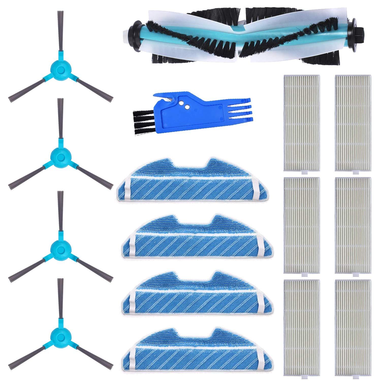Cepillo Central MIRTUX Kit de repuestos Conga 1290 y 1390 mopa Filtro y Herramienta. Pack de Accesorios de Recambio para Robots aspiradora Conga con Cepillo Lateral