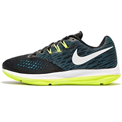 new high quality lowest price professional sale Nike Men's Zoom Winflo 4 Blk/Wht-Blu-Volt Running Shoes-12 ...