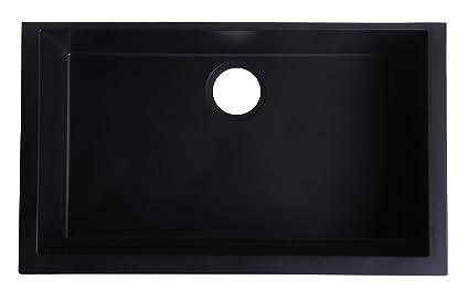 ALFI brand AB3020UM-BLA Undercount Single Bowl Granite Composite ...