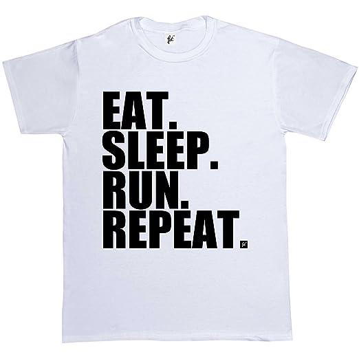 Eat Sleep Run Mens T Shirt Runner Fitness Funny Gift Present Idea