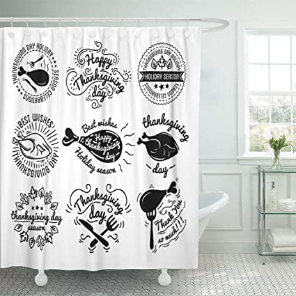 Amazon Emvency Fabric Shower Curtain Curtains With Hooks Labels